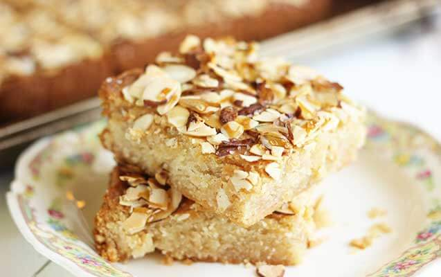 Salted Honey Almond Squares