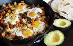 Potatoes and Sausage Hash Tacos