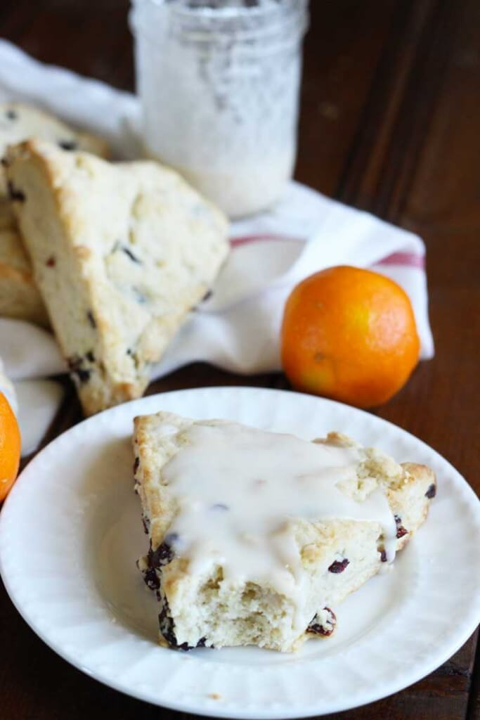 Cream Cheese Cranberry Clementine Scones