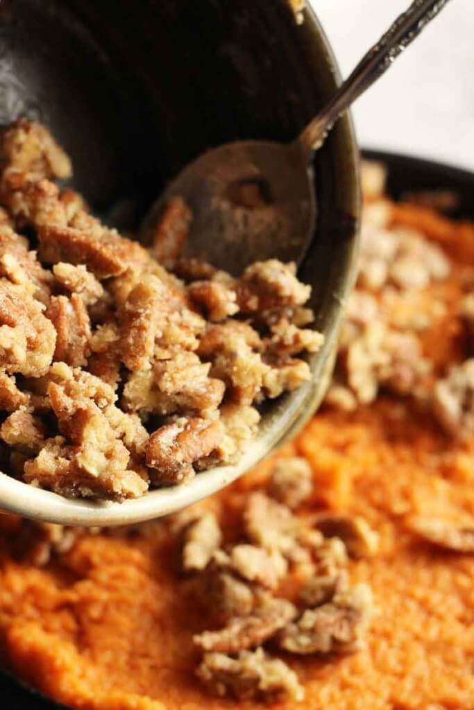 Sweet Potato Pecan Crumble