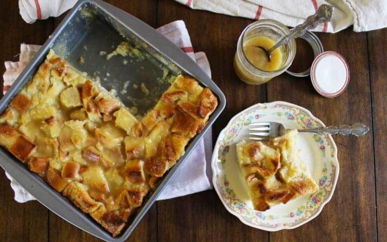 Boozy Amaretto Bread Pudding