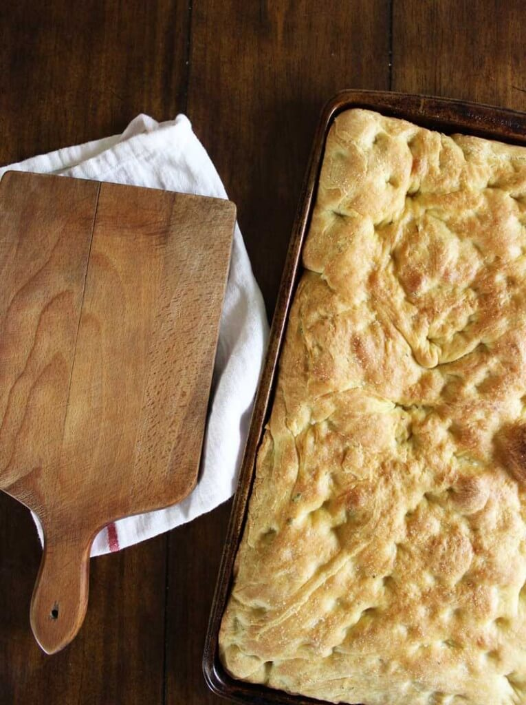 Herb Focaccia with Sun-dried Tomato Aioli