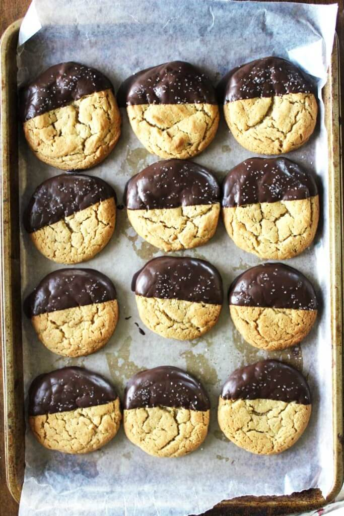 Salted Chocolate Peanut Butter Cookies