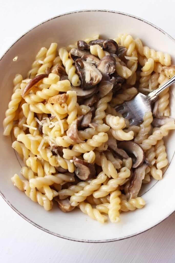 Creamy Three Mushroom Pasta