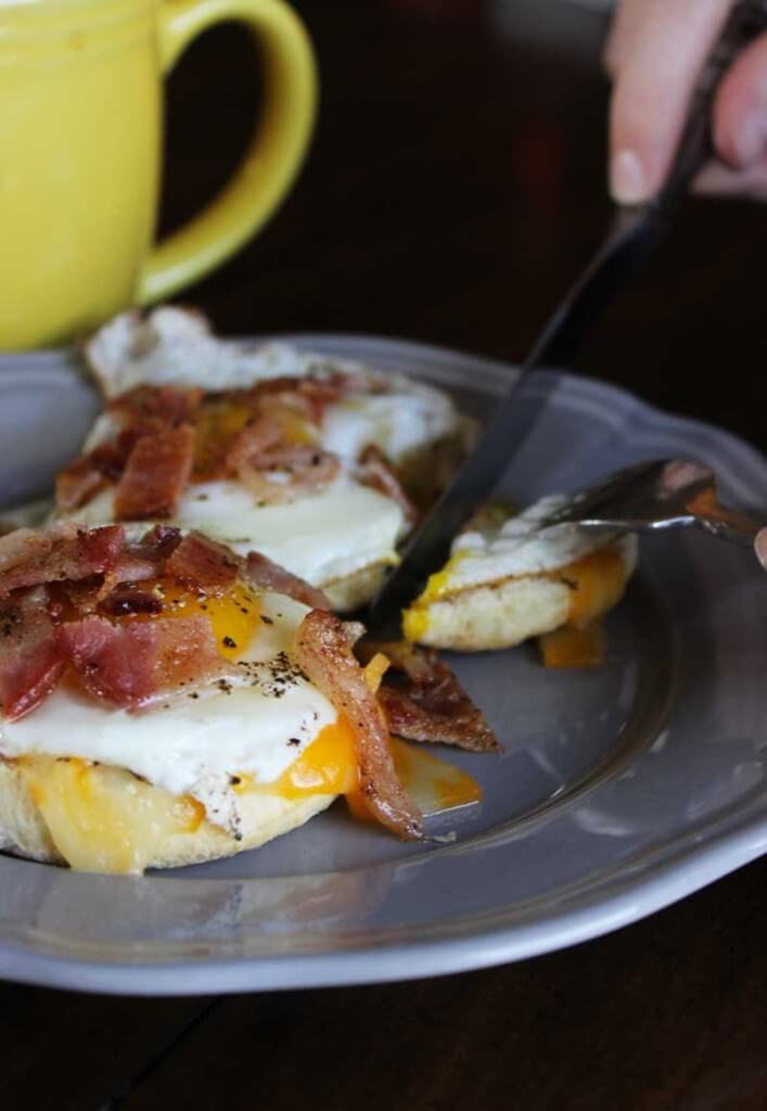 Bacon and Egg Breakfast Biscuit