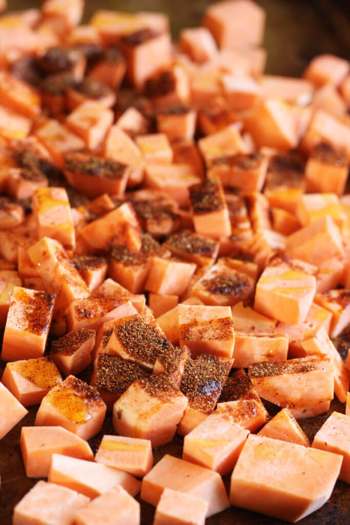 Spicy Vegetarian Sweet Potato and Black Bean Tacos