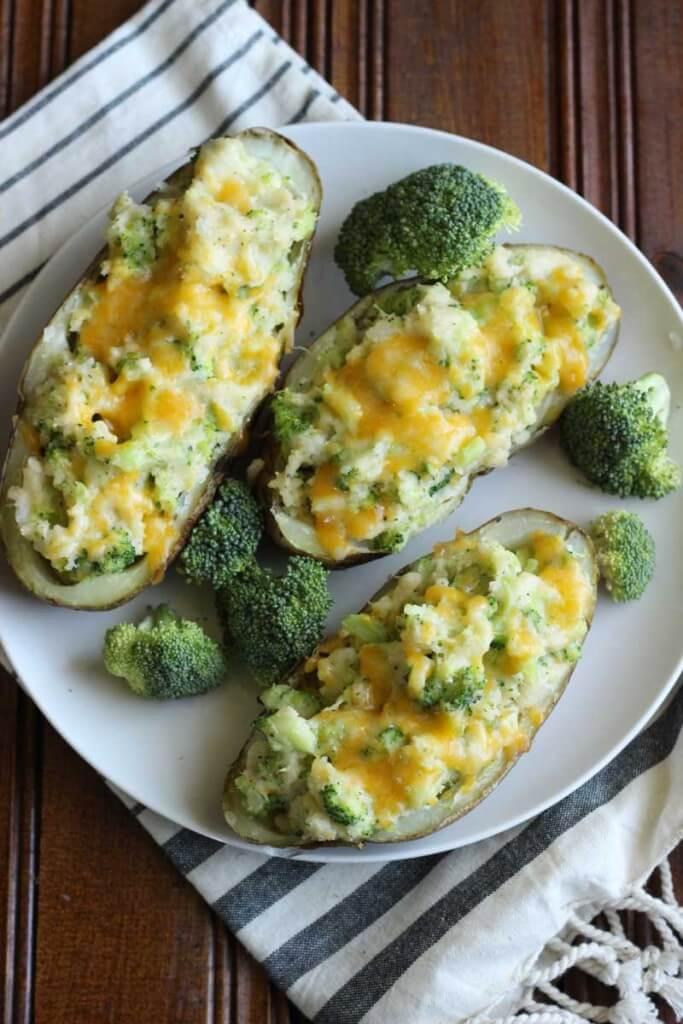 Twice-Baked Cheesy Broccoli Potatoes