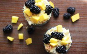 Mango Blackberry Parfait