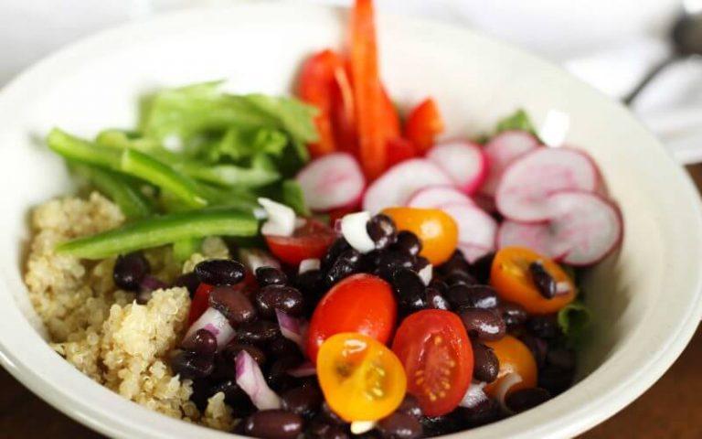 Vegetarian Fajita Quinoa Bowl