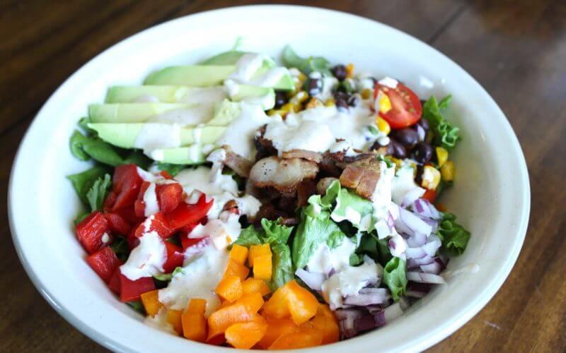 Southwestern Salad with Jalapeno Buttermilk Dressing