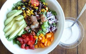 Southwestern Salad with Jalapeno Buttermilk Dressing