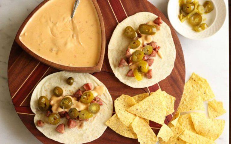 Cheesy Jalapeno and Sausage Tacos
