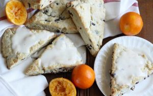 Cream Cheese Cranberry Clementine Scones