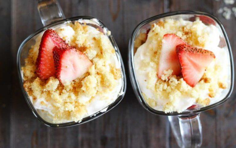 Sugar Cookie Strawberry Shortcake Cups