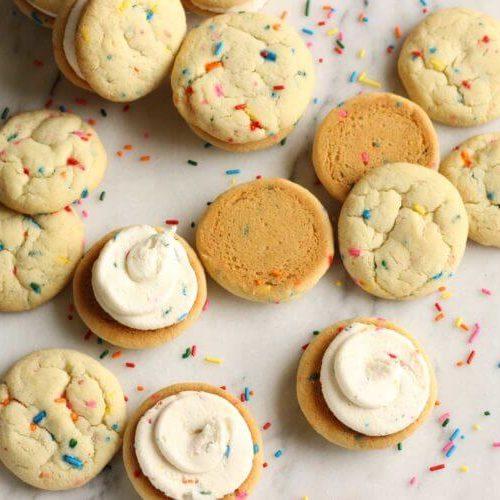 Funfetti Cookie Sandwiches