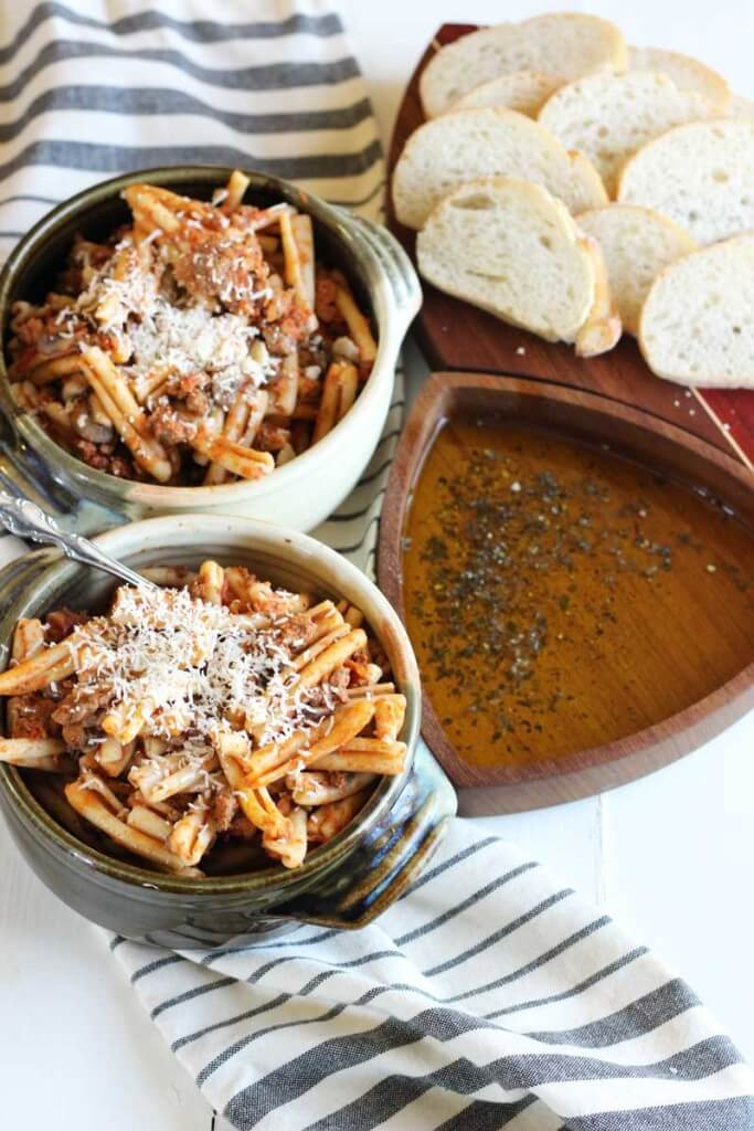 Easy Beef and Mushroom Marinara Pasta