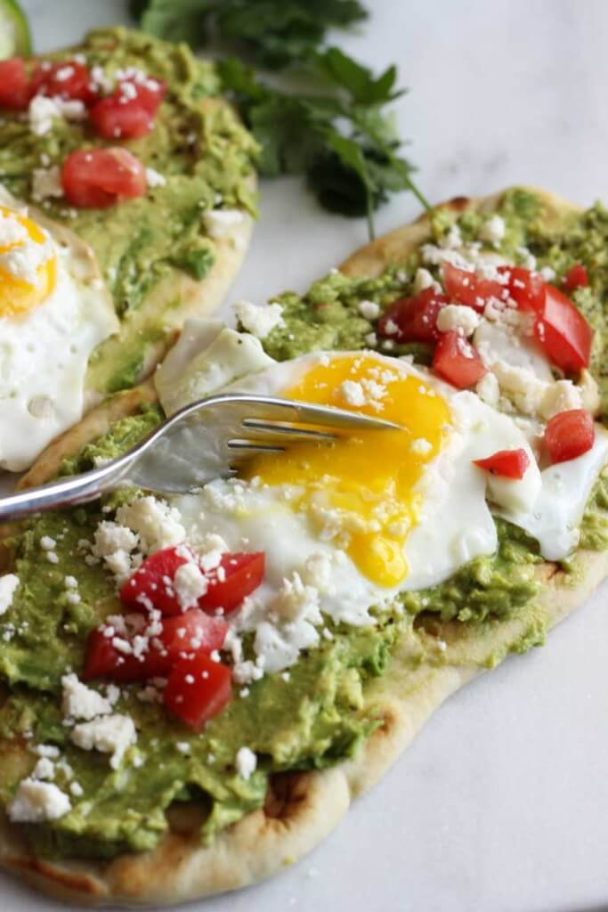 Avocado and Fried Egg Breakfast Flatbread