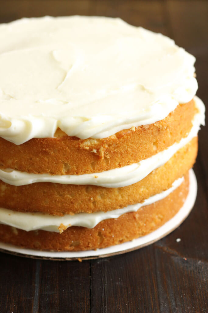 Lemon Cake with Creamy Earl Grey Frosting