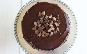 Chocolate Peanut Butter Cake with Chocolate Glaze